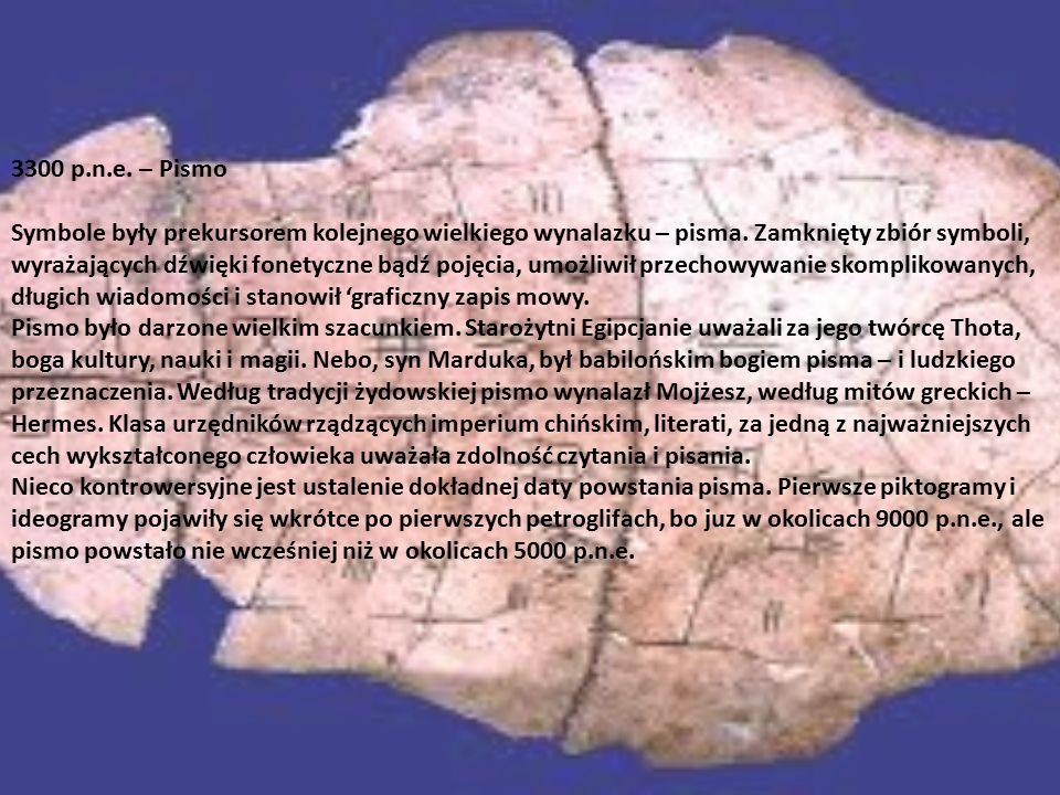 3300 p.n.e. – Pismo