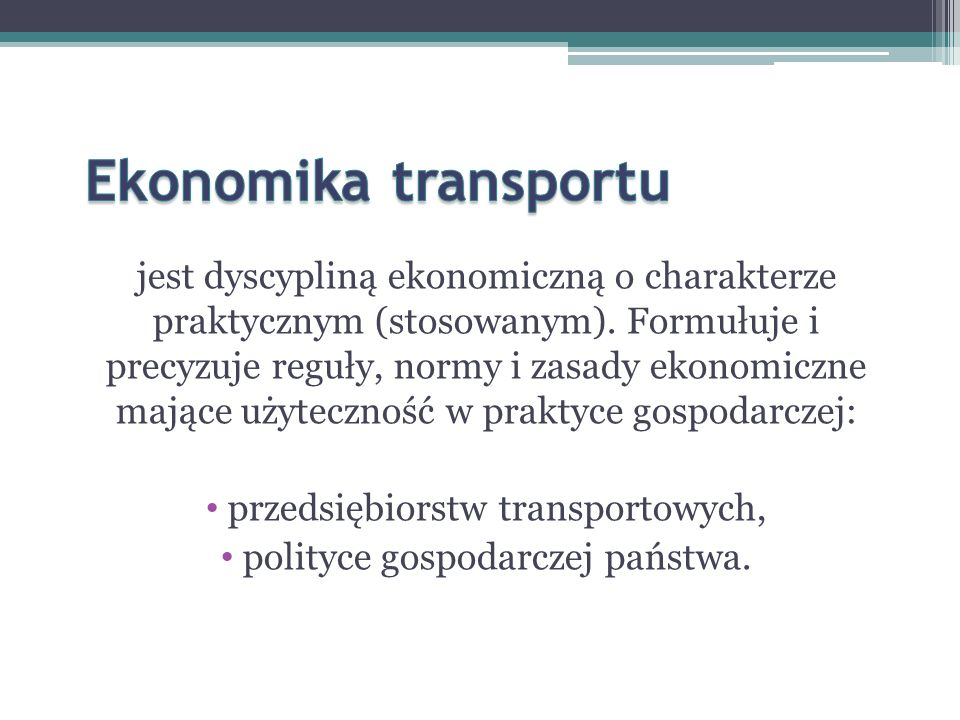 Ekonomika transportu