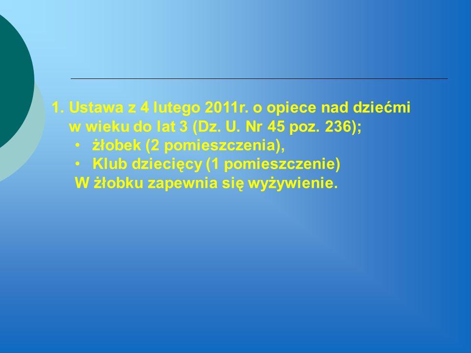Ustawa z 4 lutego 2011r. o opiece nad dziećmi w wieku do lat 3 (Dz. U