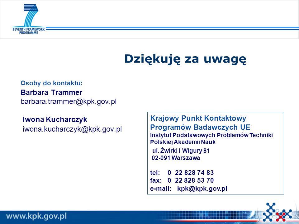 Dziękuję za uwagę Osoby do kontaktu: Barbara Trammer barbara.trammer@kpk.gov.pl Iwona Kucharczyk iwona.kucharczyk@kpk.gov.pl.