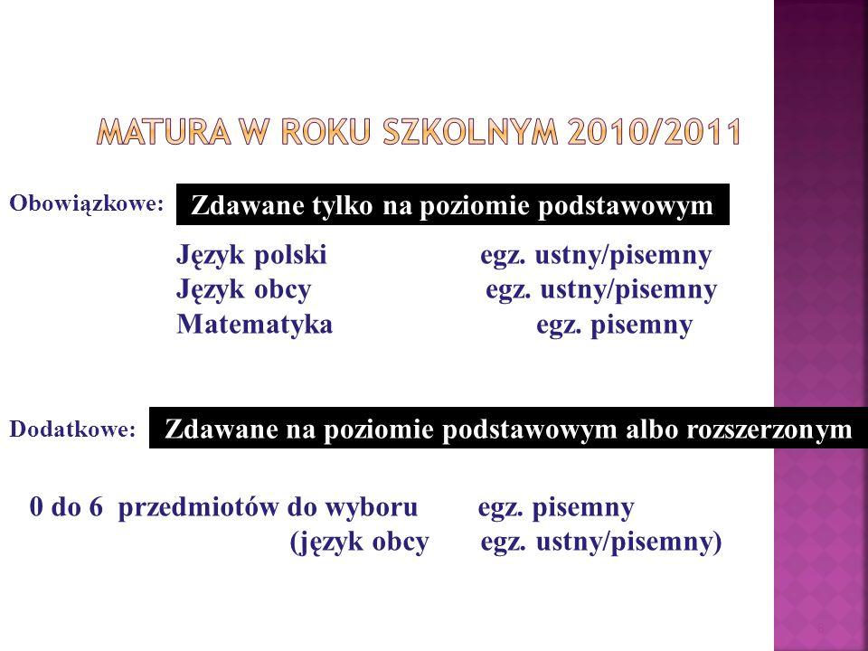 Matura w roku szkolnym 2010/2011