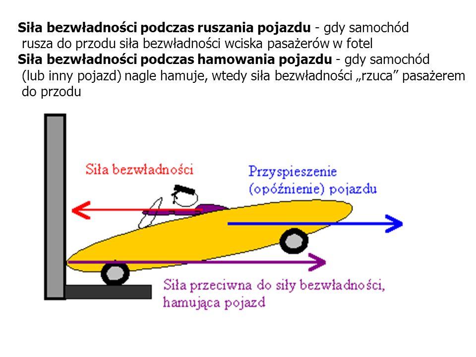 Siła bezwładności podczas ruszania pojazdu - gdy samochód