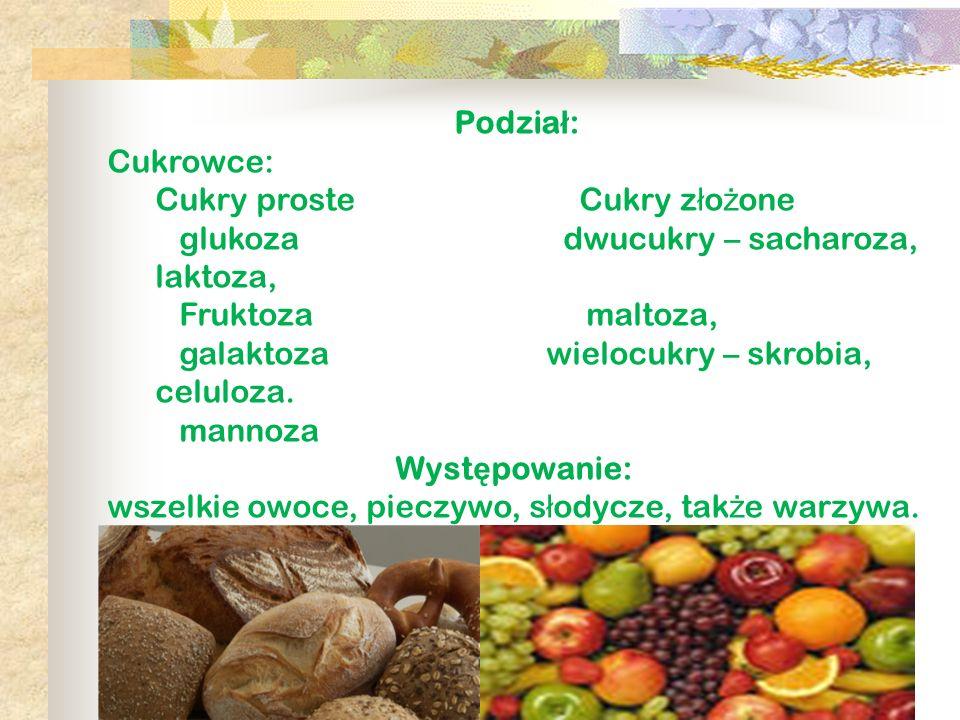 wszelkie owoce, pieczywo, słodycze, także warzywa.