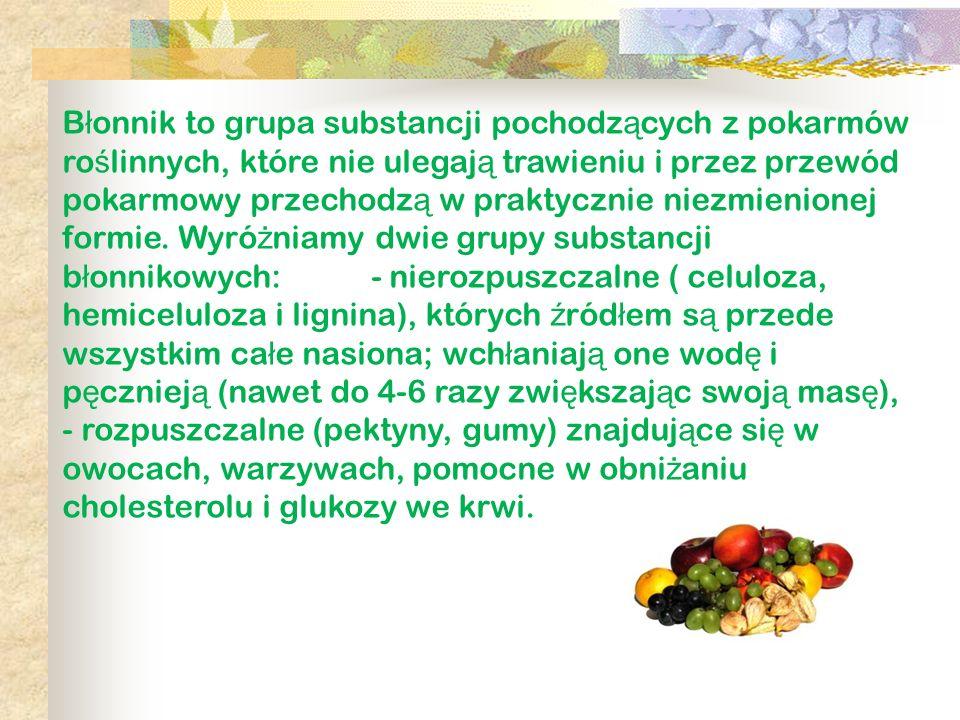 Błonnik to grupa substancji pochodzących z pokarmów roślinnych, które nie ulegają trawieniu i przez przewód pokarmowy przechodzą w praktycznie niezmienionej formie.
