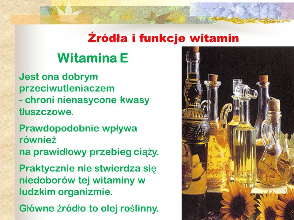 Witamina E Źródła i funkcje witamin