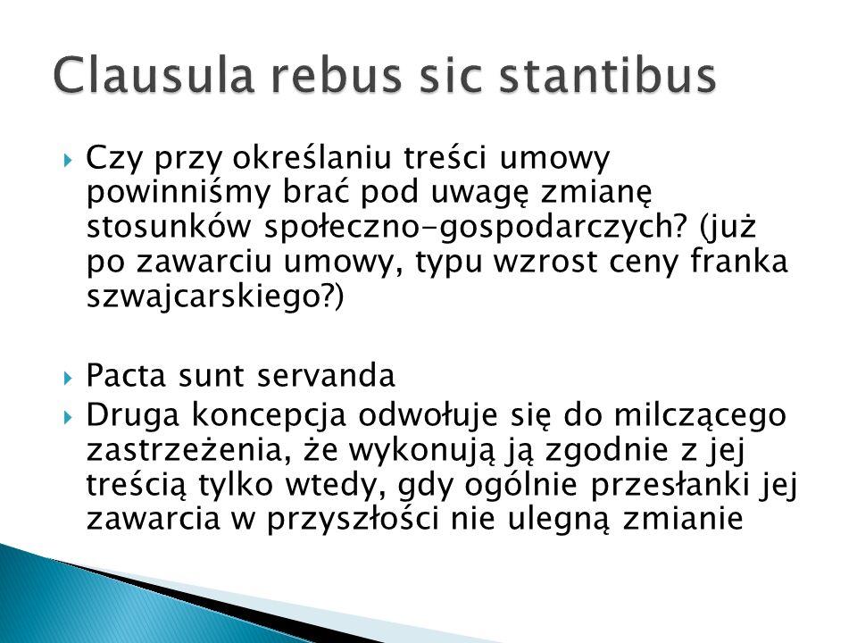 Clausula rebus sic stantibus