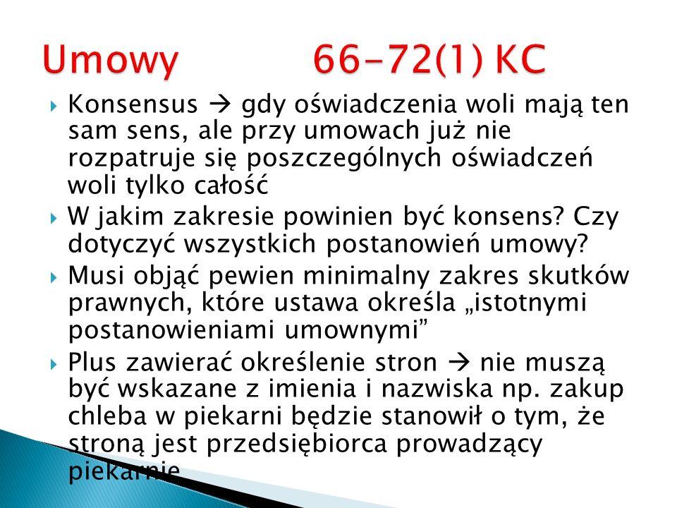 Umowy 66-72(1) KC