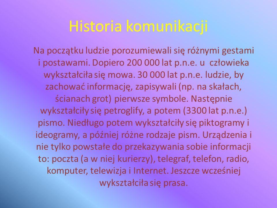 Historia komunikacji