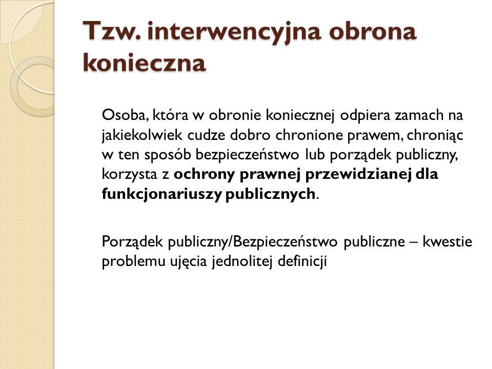 Tzw. interwencyjna obrona konieczna