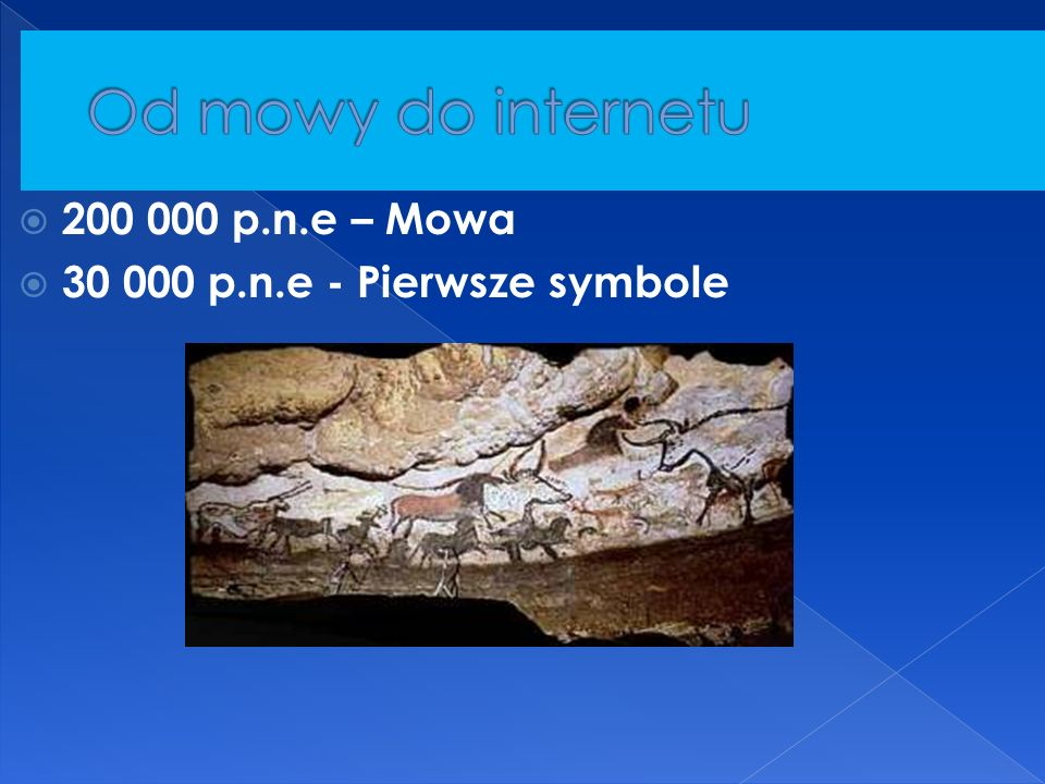 Od mowy do internetu 200 000 p.n.e – Mowa