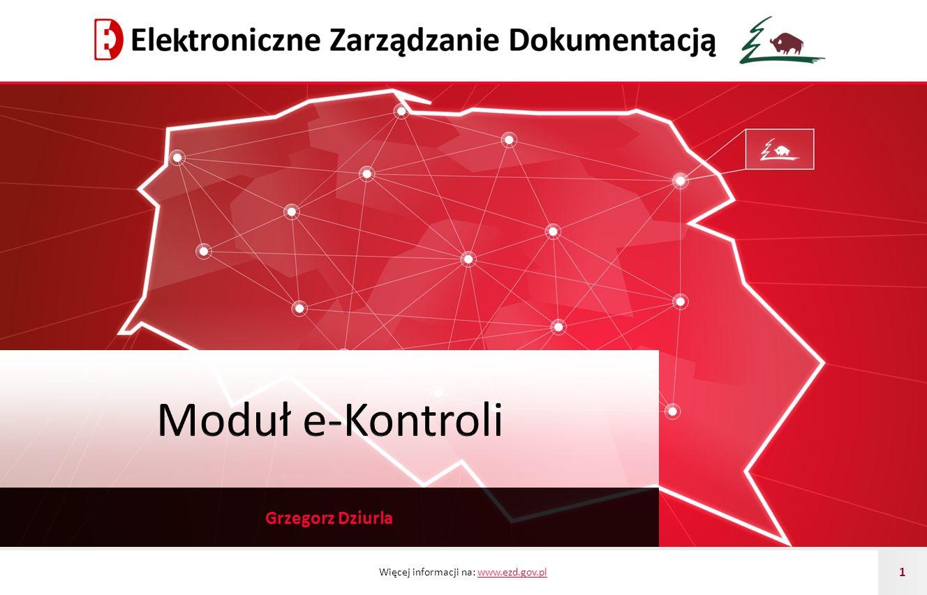 Moduł e-Kontroli Grzegorz Dziurla