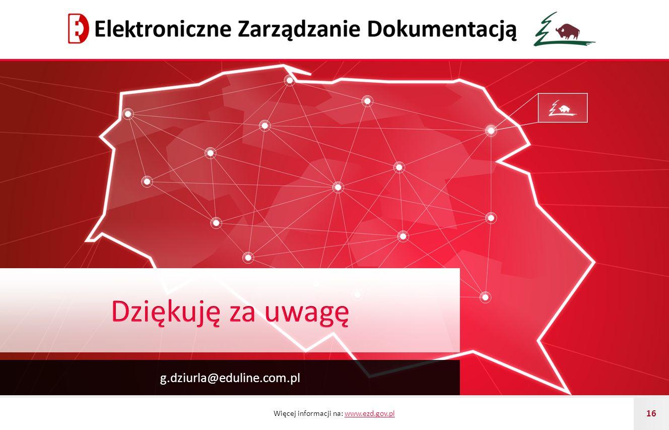 Dziękuję za uwagę g.dziurla@eduline.com.pl