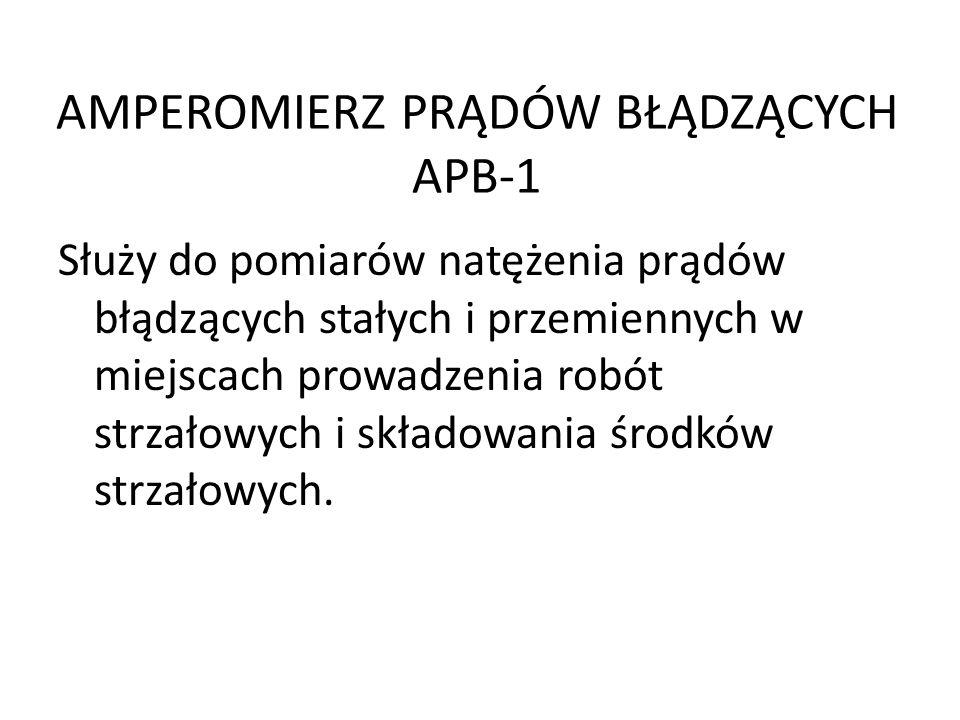 AMPEROMIERZ PRĄDÓW BŁĄDZĄCYCH APB-1