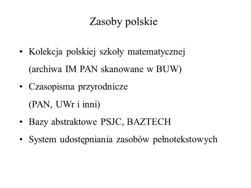 Zasoby polskie Kolekcja polskiej szkoły matematycznej