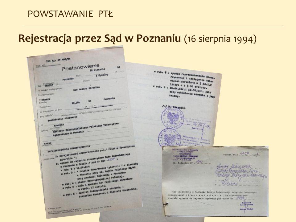 Rejestracja przez Sąd w Poznaniu (16 sierpnia 1994)