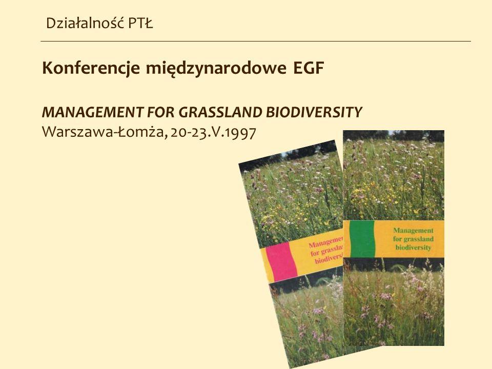 Konferencje międzynarodowe EGF