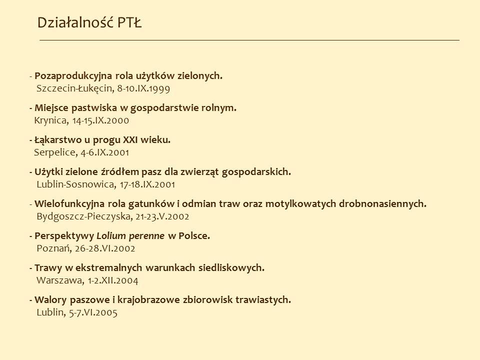 Działalność PTŁ - Pozaprodukcyjna rola użytków zielonych.