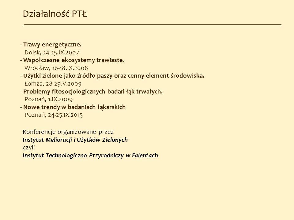Działalność PTŁ - Trawy energetyczne. Dolsk, 24-25.IX.2007
