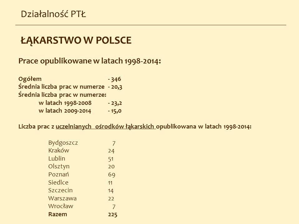 ŁĄKARSTWO W POLSCE Działalność PTŁ