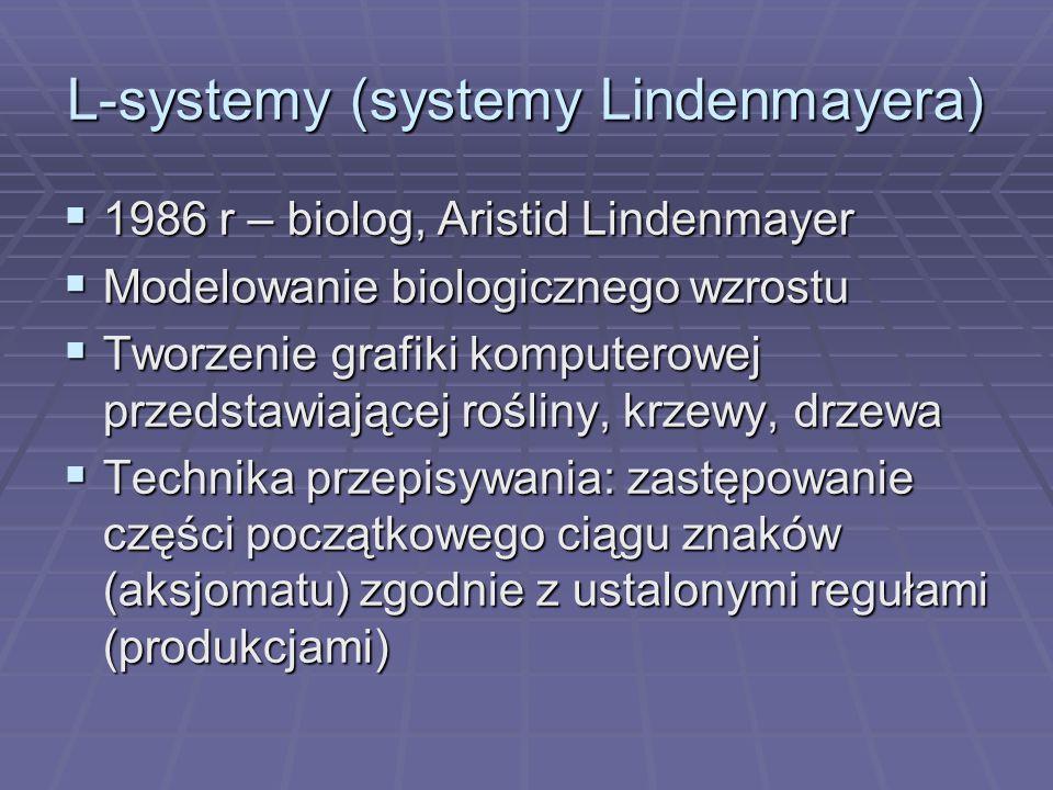 L-systemy (systemy Lindenmayera)