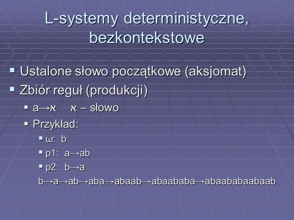 L-systemy deterministyczne, bezkontekstowe
