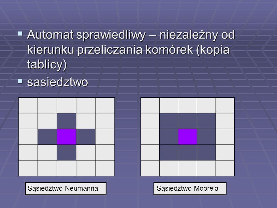 Automat sprawiedliwy – niezależny od kierunku przeliczania komórek (kopia tablicy)