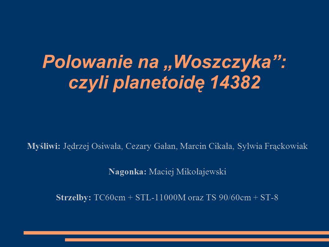 """Polowanie na """"Woszczyka : czyli planetoidę 14382"""