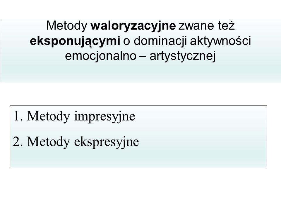1. Metody impresyjne 2. Metody ekspresyjne