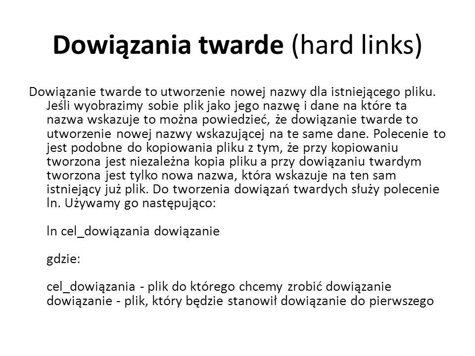 Dowiązania twarde (hard links)