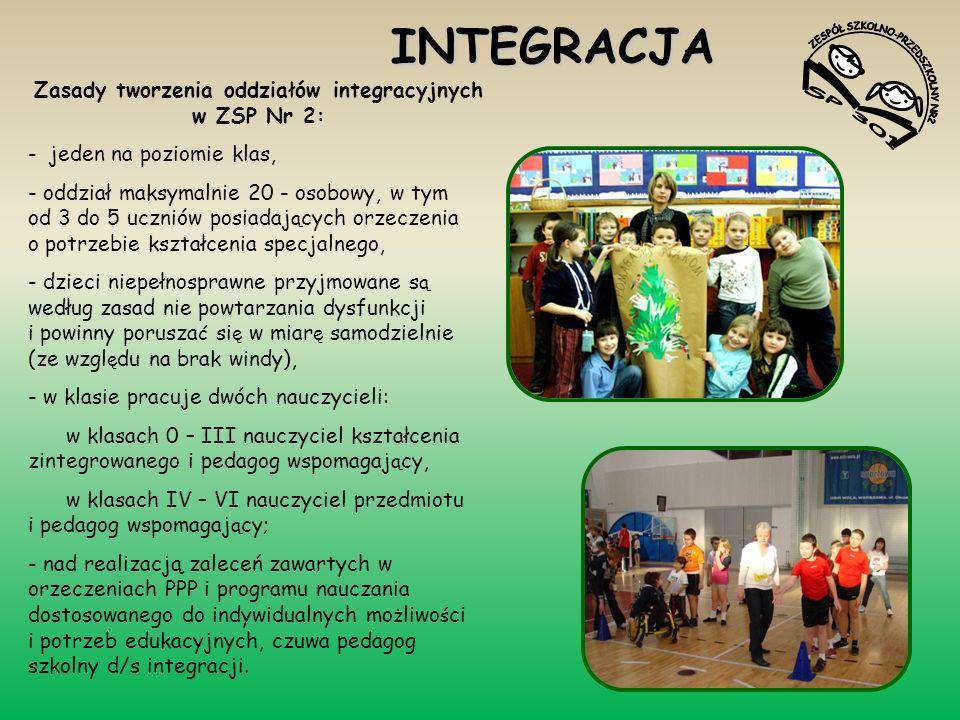 Zasady tworzenia oddziałów integracyjnych w ZSP Nr 2: