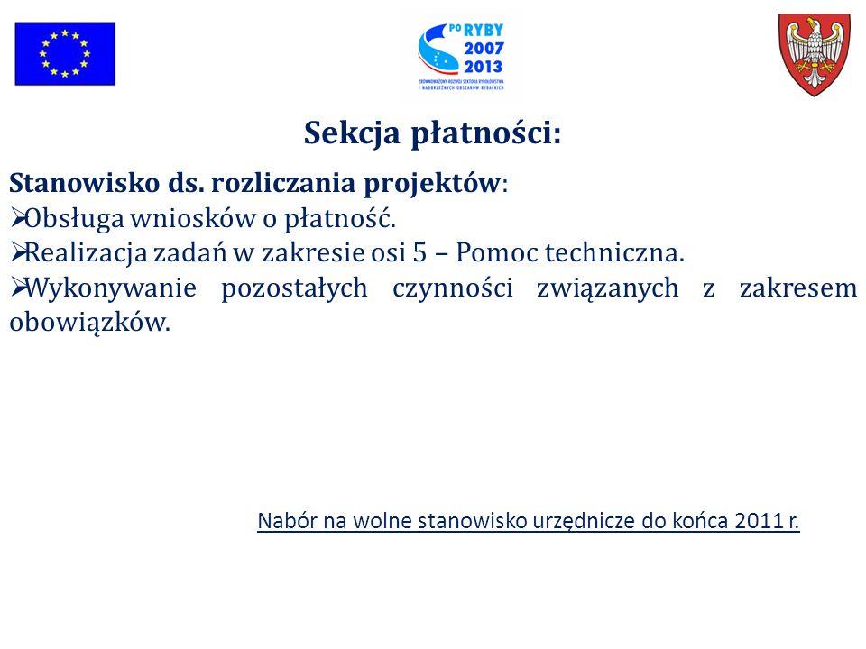 Sekcja płatności: Stanowisko ds. rozliczania projektów: