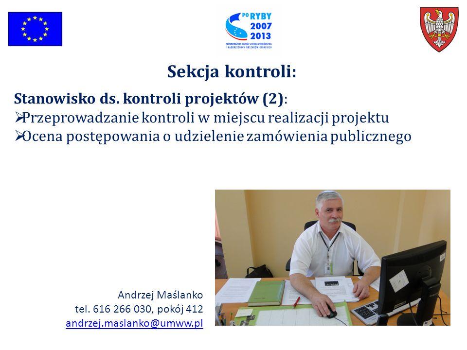 Sekcja kontroli: Stanowisko ds. kontroli projektów (2):