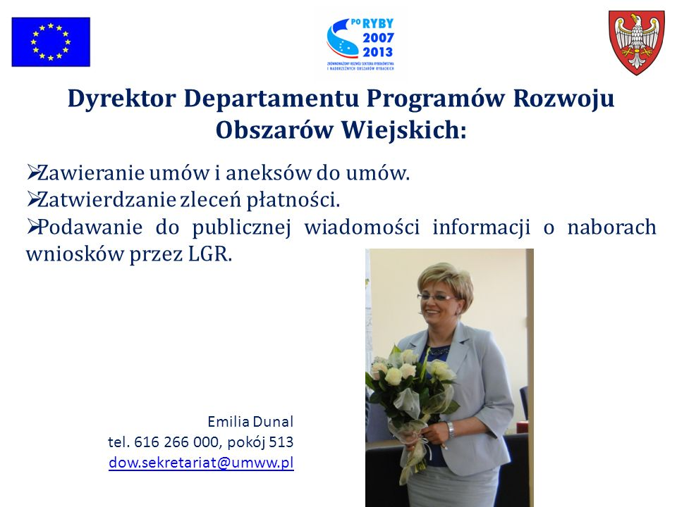 Dyrektor Departamentu Programów Rozwoju Obszarów Wiejskich: