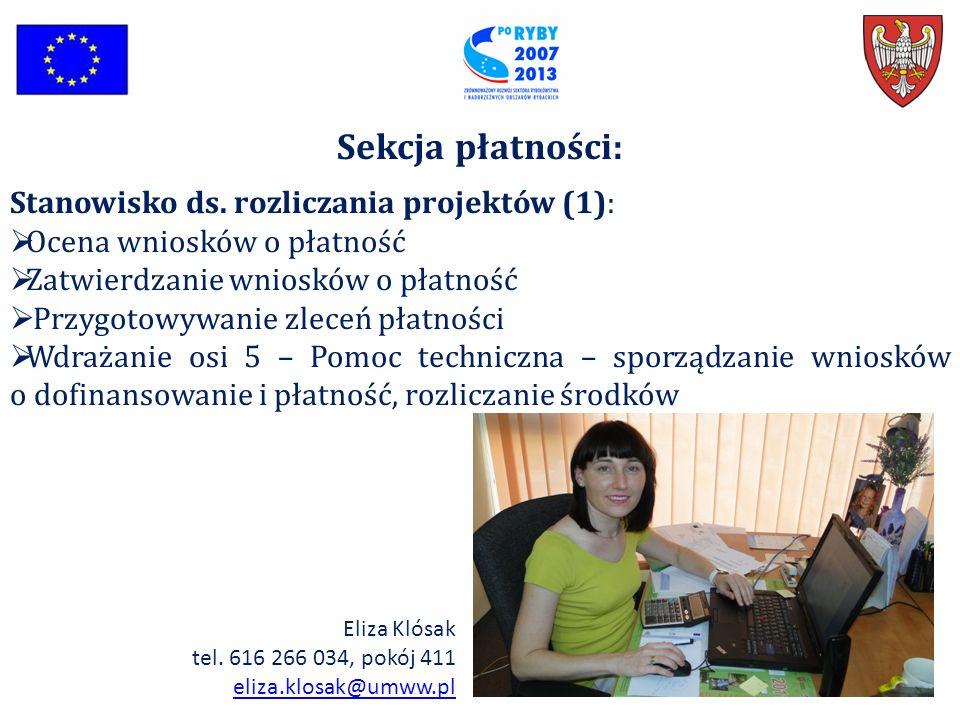 Sekcja płatności: Stanowisko ds. rozliczania projektów (1):