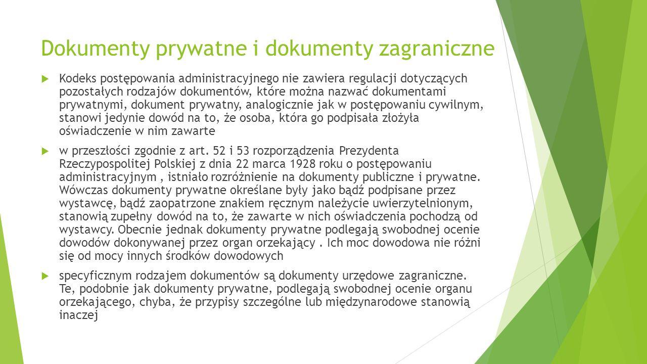 Dokumenty prywatne i dokumenty zagraniczne
