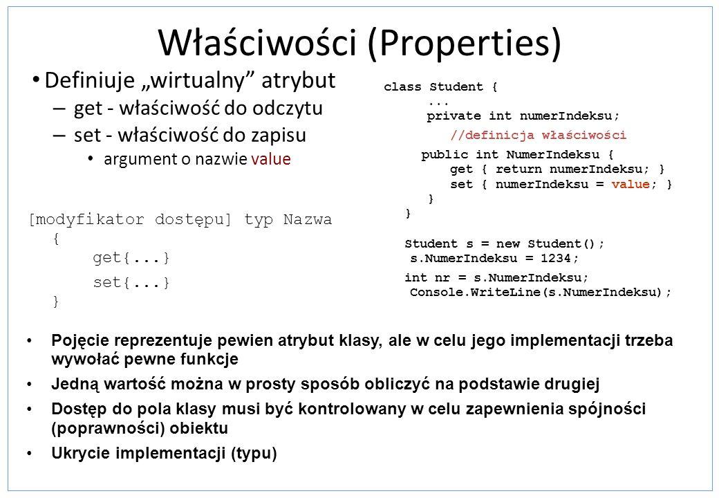 Właściwości (Properties)