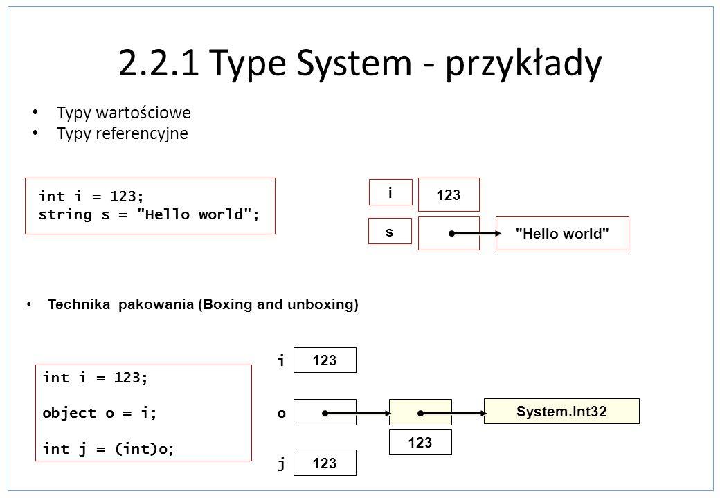 2.2.1 Type System - przykłady
