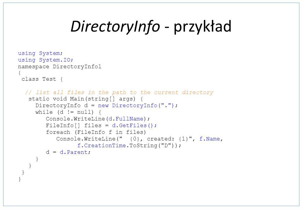 DirectoryInfo - przykład