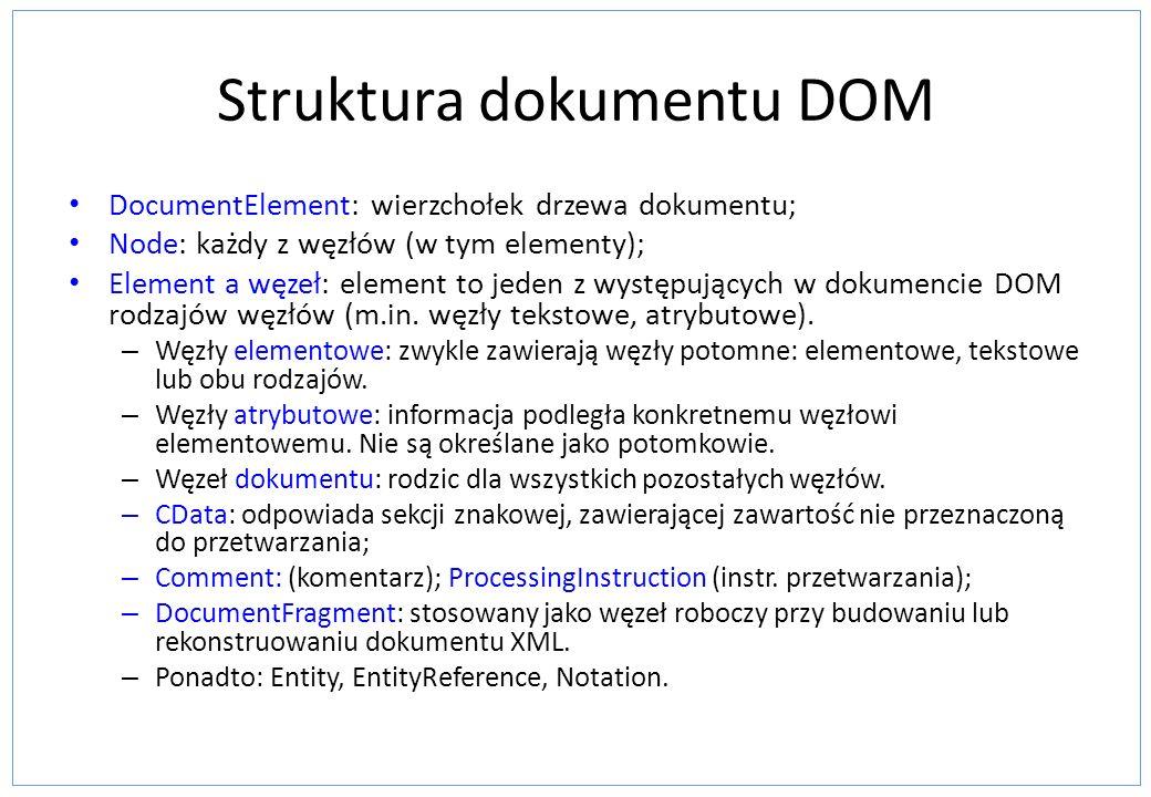 Struktura dokumentu DOM