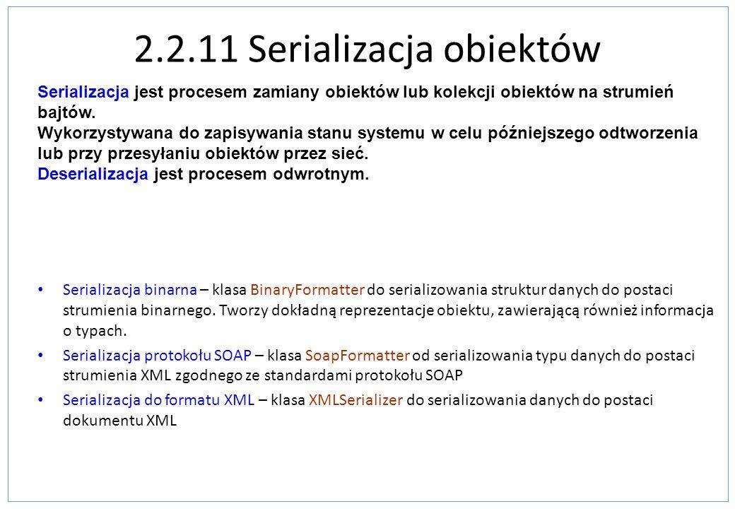 2.2.11 Serializacja obiektów