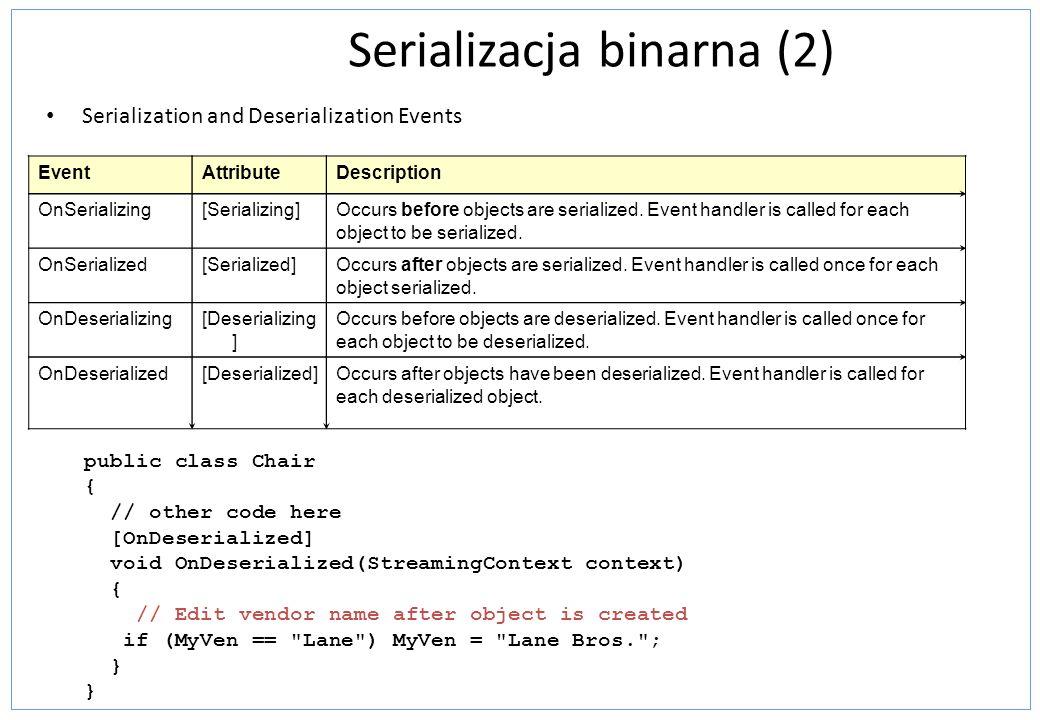 Serializacja binarna (2)