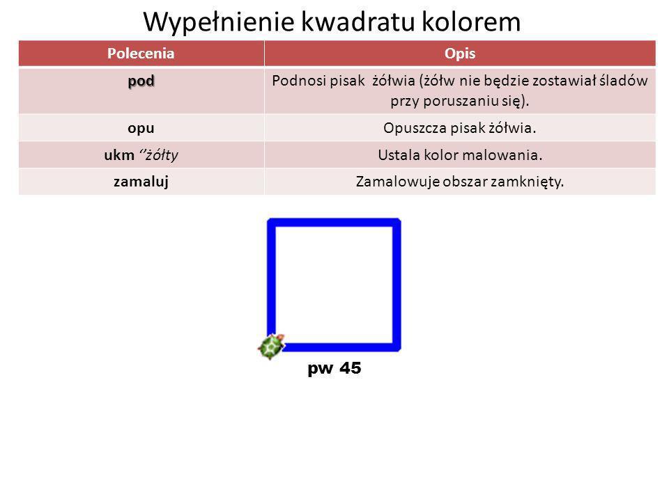 Wypełnienie kwadratu kolorem