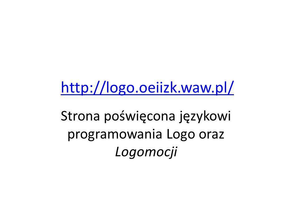 Strona poświęcona językowi programowania Logo oraz Logomocji
