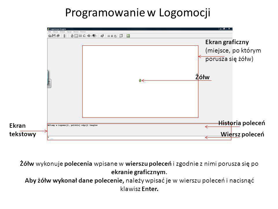 Programowanie w Logomocji