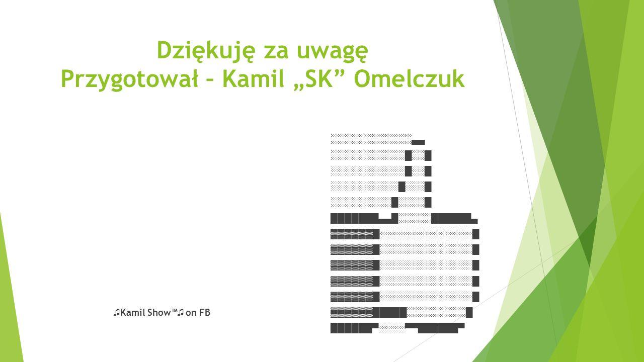 """Dziękuję za uwagę Przygotował – Kamil """"SK Omelczuk"""