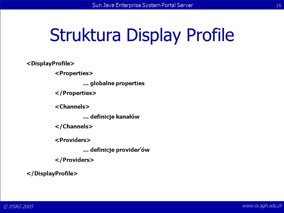 Struktura Display Profile