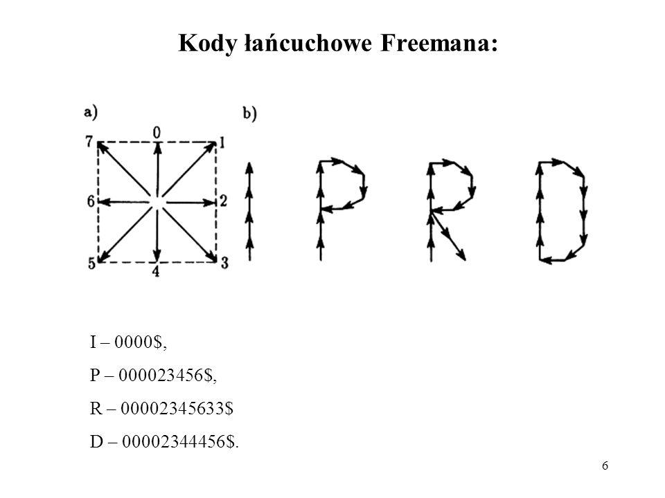 Kody łańcuchowe Freemana: