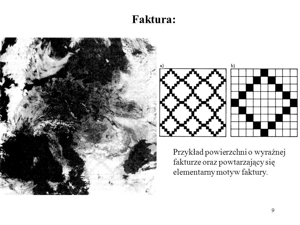 Faktura: Przykład powierzchni o wyraźnej fakturze oraz powtarzający się elementarny motyw faktury.