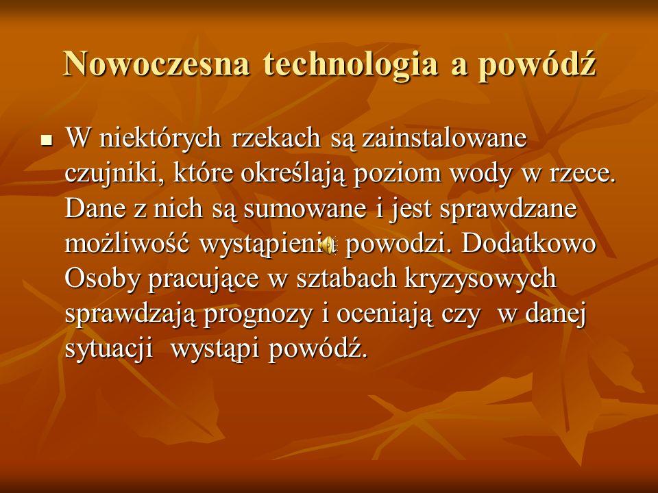 Nowoczesna technologia a powódź