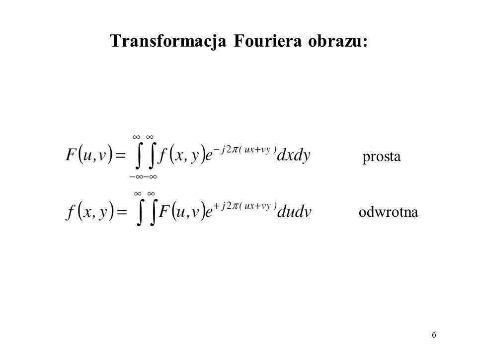 Transformacja Fouriera obrazu: